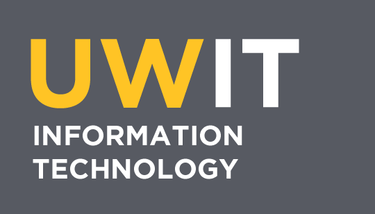 UWIT information technology text on grey background